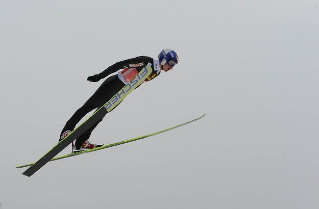 Adam Małysz podczas konkursu w Oberstdorfie /AFP