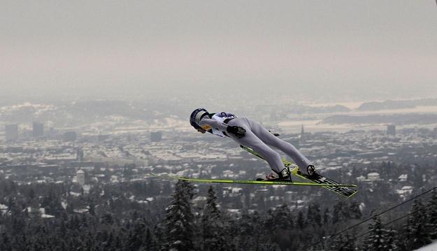 Adam Małysz w Lahti lądował na 127. metrze /AFP