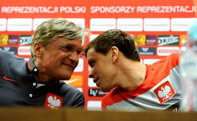 Adam Nawałka i Wojciech Szczęsny /PAP/Bartłomiej Zborowski /PAP