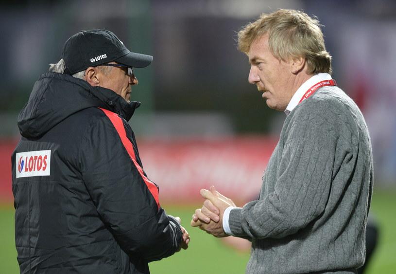 Adam Nawałka (z lewej) i Zbigniew Boniek / fot. Bartek Syta / Polska Press /East News
