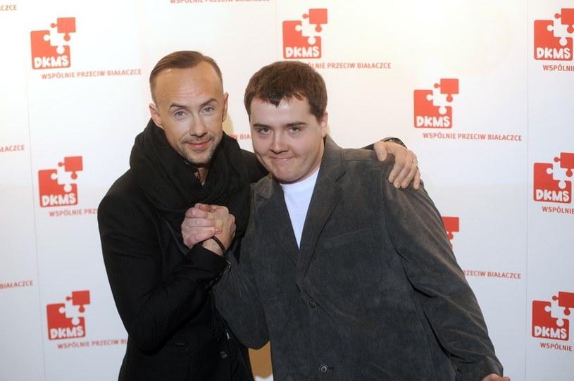 """Adam """"Nergal"""" Darski i jego bliźniak genetyczny Grzegorz Kajta /Wojciech Stróżyk /East News"""