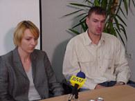 Adam Wójcik z żoną Krystyną, swoim menadżerem /Maciej Cepin/RMF