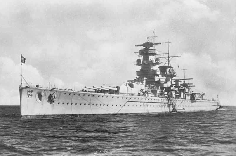 """""""Admirał Graf von Spee"""" w latach swej świetności /Bundesarchiv /INTERIA.PL/materiały prasowe"""