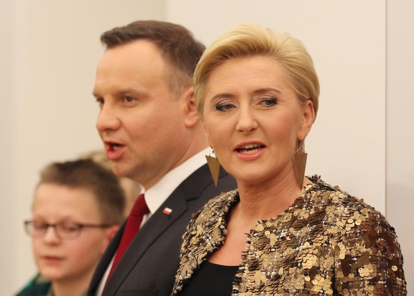 Adnrzej Duda z żoną Agatą /Robert Ostrowski /East News