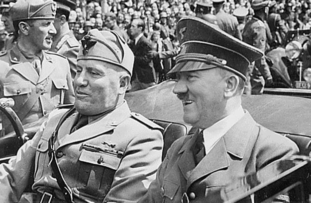 Adolf Hitler i Benito Mussolini, czerwiec 1940 r. (Monachium) /AFP