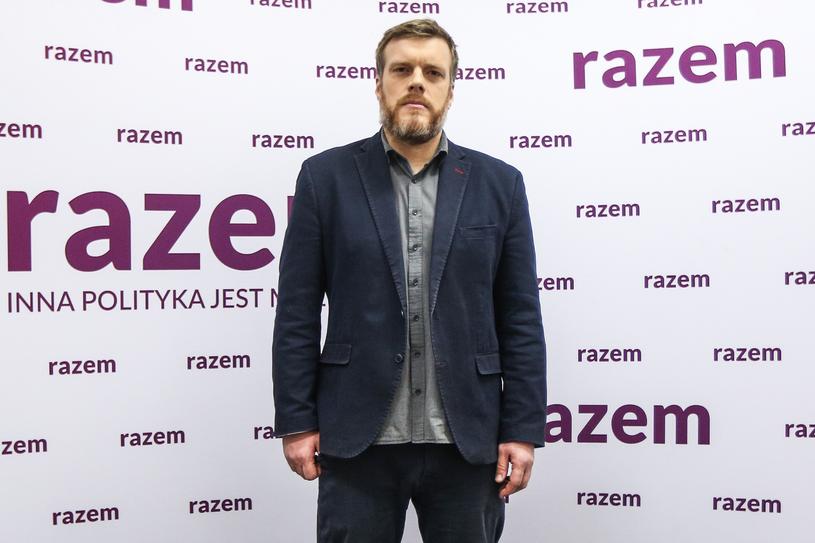 Adrian Zandberg w czasie konwencji samorządowej Razem /Michał Dyjuk /FORUM