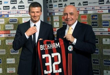 Adriano Galliani i David Beckham /AFP