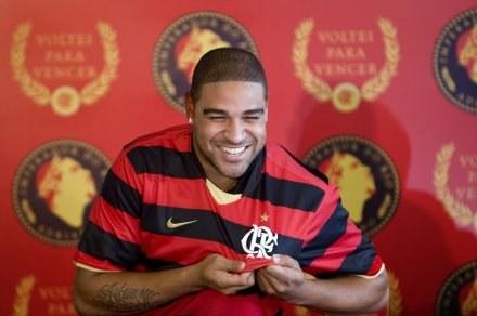 Adriano podpisał kontrakt z Flamengo Rio de Janeiro /AFP