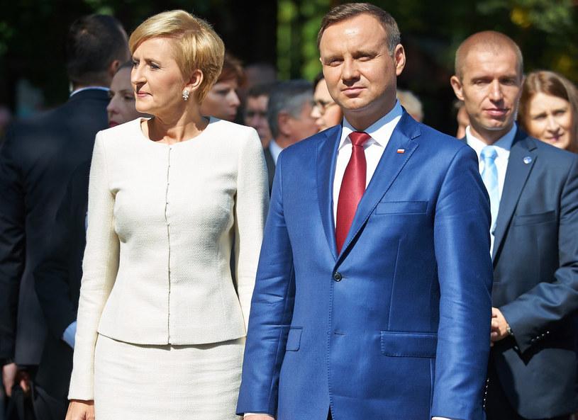 Agata i Andrzej Duda na Dożynkach Prezydenckich w Spale /Szelag/Reporter /East News