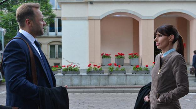 Agata i Marek znajdą się po przeciwnej stronie barykady. /Agencja W. Impact