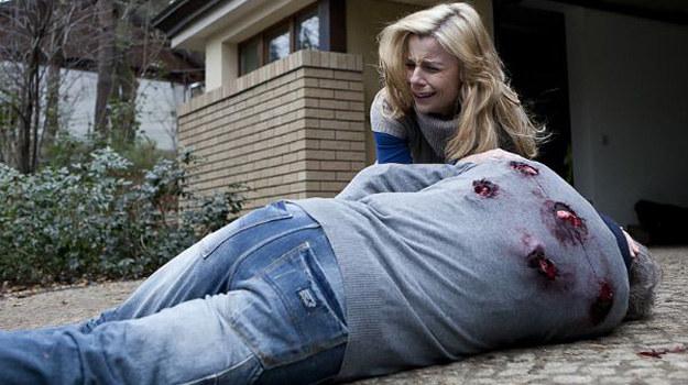 """Agata Kulesza jako Carmen w serialu """"Krew z krwi"""" /TVP"""