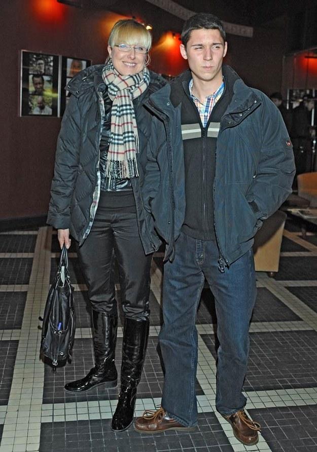 Agata Młynarska z synem Stanisławem, fot.Andras Szilagyi  /MWMedia