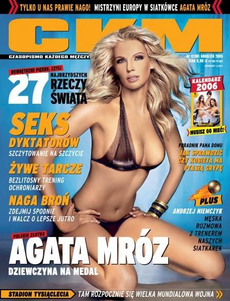 Agata Mróz na okładce CKM - Kliknij, aby powiększyć /CKM