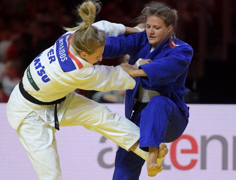 Agata Ozdoba (na niebiesko) /AFP