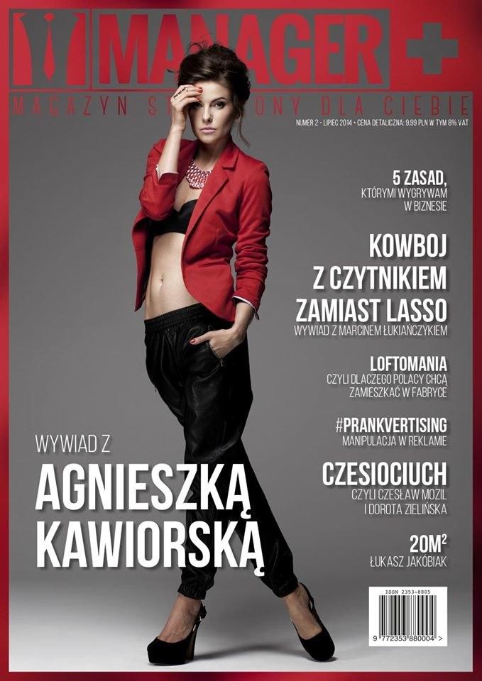 """Agnieszka Kawiorska na okładce magazynu """"Manager+"""" /materiały prasowe"""