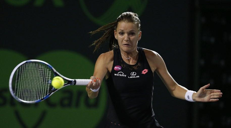 Agnieszka Radwańska awansowała do 1/8 finału tenisowego turnieju WTA Premier w Miami /RHONA WISE /PAP/EPA