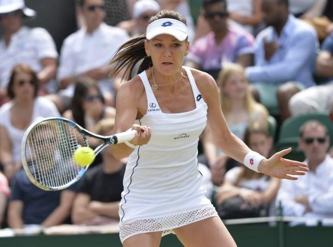 Agnieszka Radwańska awansowała do ćwierćfinału Wimbledonu /GERRY PENNY /PAP/EPA