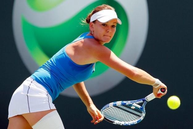 Agnieszka Radwańska jest w czołówce najlepiej zarabiających tenisistek /AFP