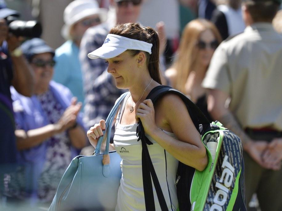 Agnieszka Radwańska kończy przygodę z Wimbledonem 2015 /GERRY PENNY /PAP/EPA