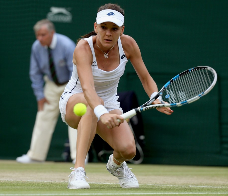 Agnieszka Radwańska na korcie Wimbledonu /SEAN DEMPSEY /PAP/EPA