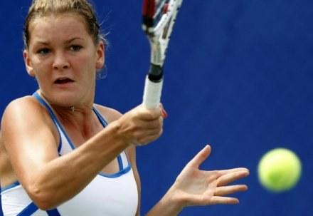 Agnieszka Radwańska pewnie przeszła przez pierwszą rundę turnieju w Cincinnati. /AFP