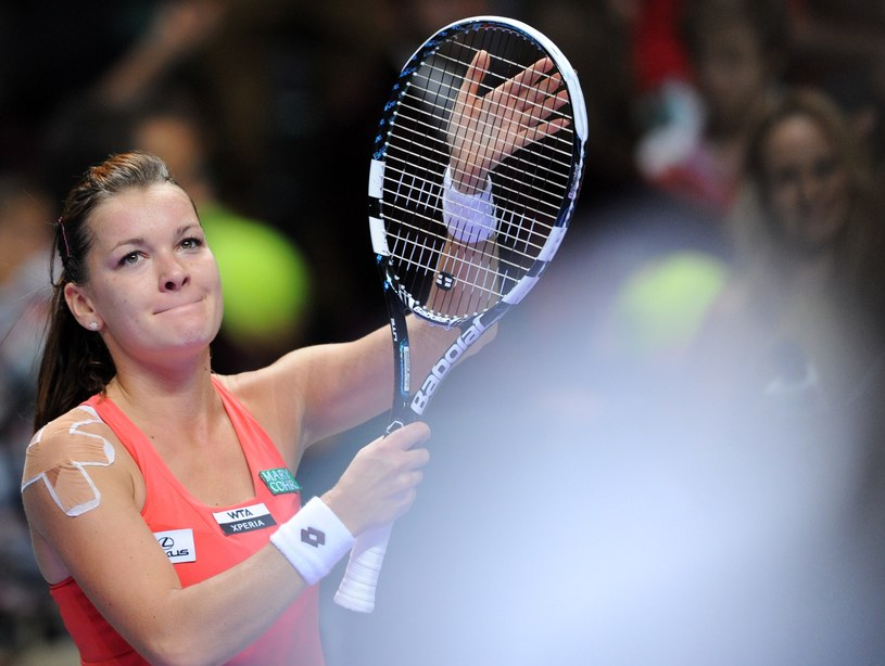 Agnieszka Radwańska po wygranym meczu z Sarą Errani /AFP
