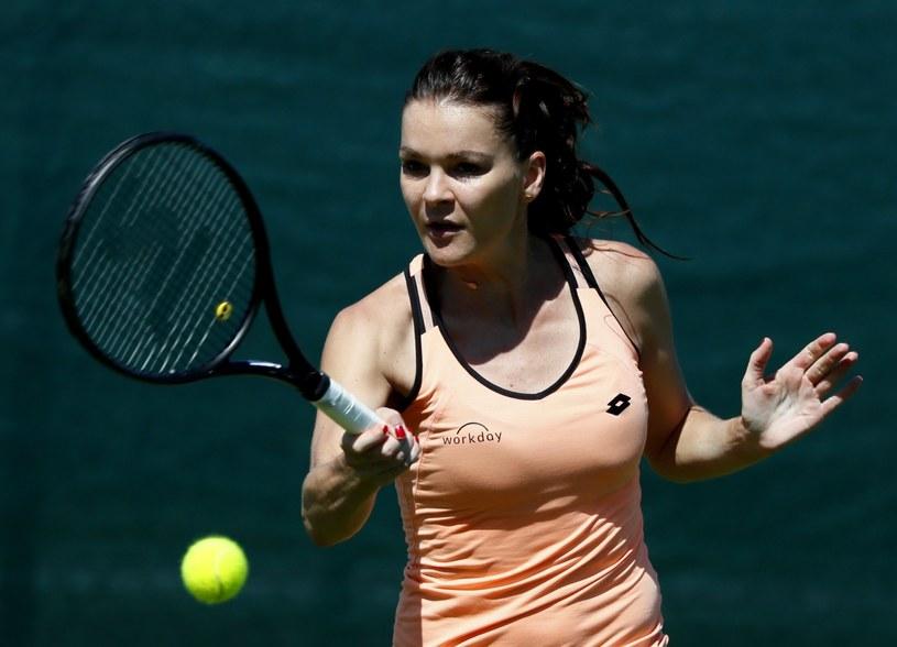Agnieszka Radwańska podczas treningu przed Wimbledonem /PAP/EPA