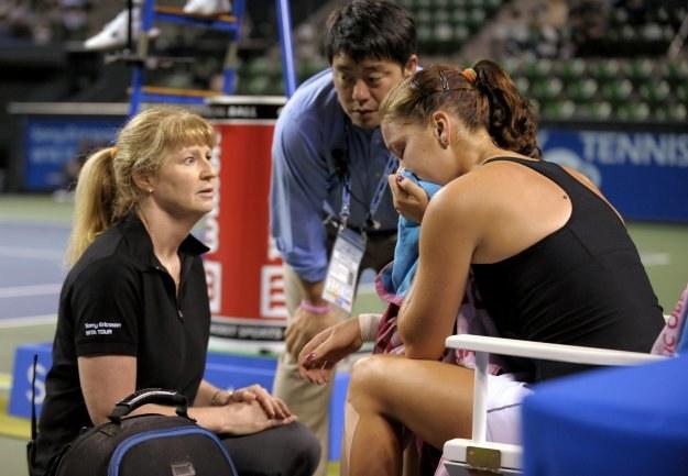 Agnieszka Radwańska poddała mecz z Caroline Wozniacki /AFP