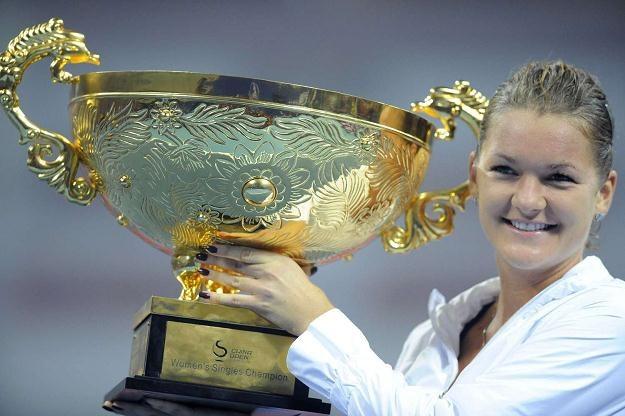 Agnieszka Radwańska powalczy o kolejne trofeum i ogromną nagrodę pieniężną /AFP
