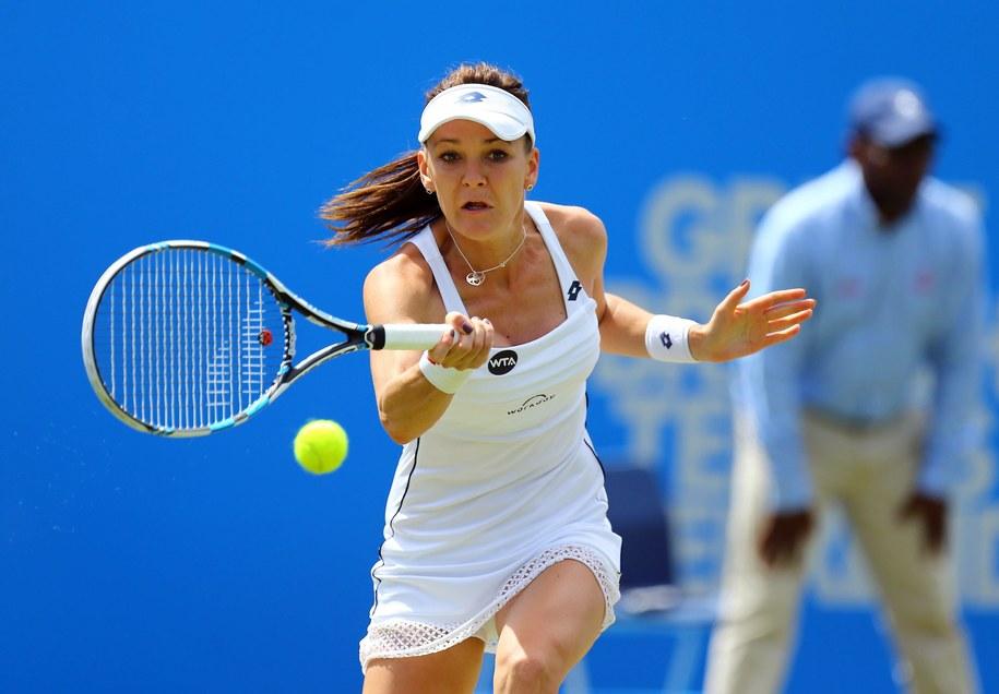 Agnieszka Radwańska przegrała w finale turnieju w Eastbourne ze szwajcarską tenisistką Belindą Bencic /Gareth Fuller/PA /PAP