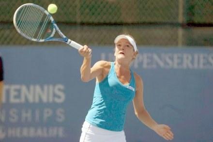 Agnieszka Radwańska świetnie radzi sobie również w grze deblowej w L.A. /INTERIA.PL/PAP