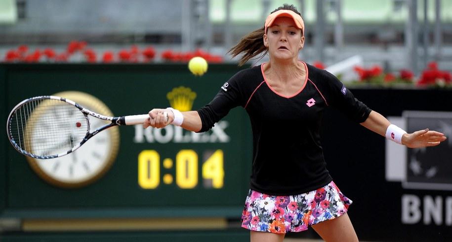 Agnieszka Radwańska udział w turnieju w Rzymie zakończyła na ćwierćfinale /CLAUDIO ONORATI    /PAP/EPA