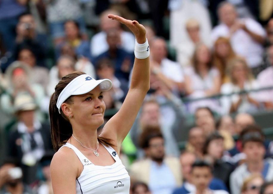 Agnieszka Radwańska w czwartek zmierzy się w półfinale Wimbledonu z Hiszpanką Muguruzą Blanco /SEAN DEMPSEY /PAP/EPA
