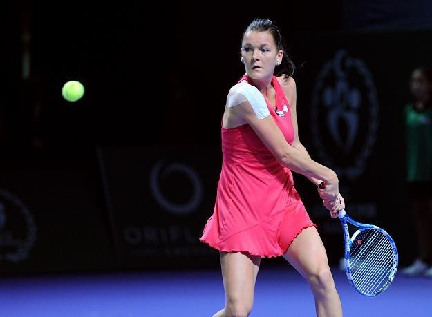 Agnieszka Radwańska w meczu z Caroline Wozniacki /AFP