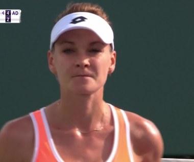 Agnieszka Radwańska wygrała z Qiang Wang w Miami. Wideo