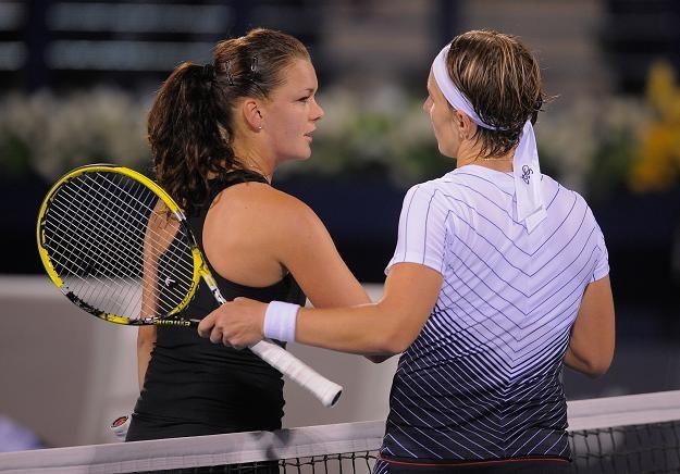 Agnieszka Radwańska (z lewej) w piątek dwa razy przegrała ze Swietłaną Kuzniecową/fot.Michael Regan /Getty Images/Flash Press Media