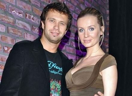 Agnieszka Szulim z mężem Adamem Badziakiem, fot. Andrzej Szilagyi /MWMedia