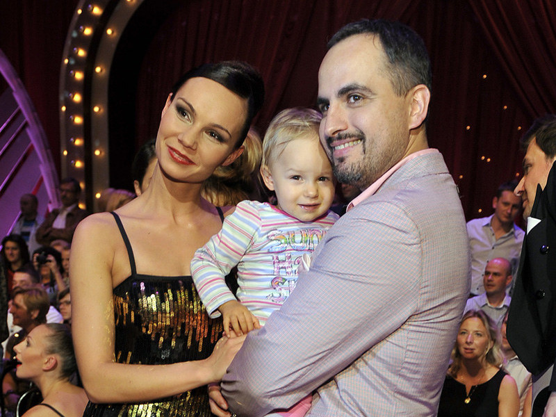 Agustin z Niną Tyrką i córką Carmen  /Jacek Kurnikowski /AKPA