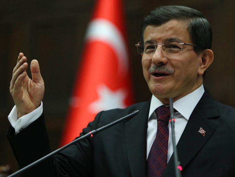 Ahmet Davutoglu, premier Turcji /AFP