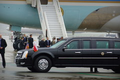 Air Force One na lotnisku Okęcie