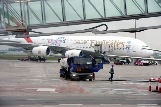 Airbus, który lądował przymusowo na Okęciu /Jacek Turczyk /PAP