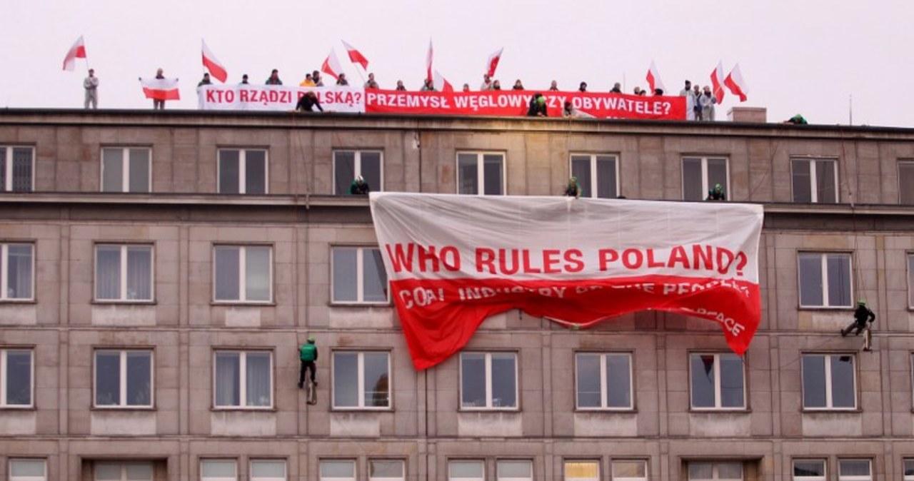 Akcja aktywistów Greenpeace'u w Warszawie