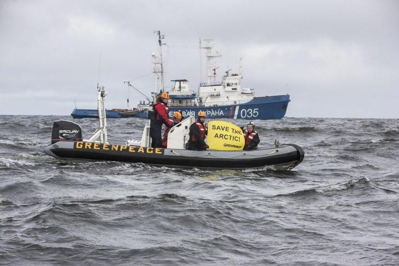 Akcja aktywistów Greenpeace /Will Rose/Greenpeace/Handout /PAP/EPA