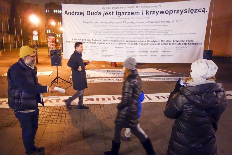 Akcja Obywateli RP w Łodzi /Piotr Kamionka /Reporter