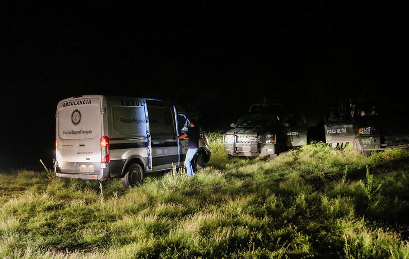 Akcja ratownicza w miejscu zestrzelenia śmigłowca /AFP