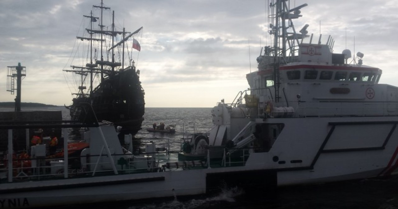 Akcja ratunkowa w pobliżu portu w Ustce