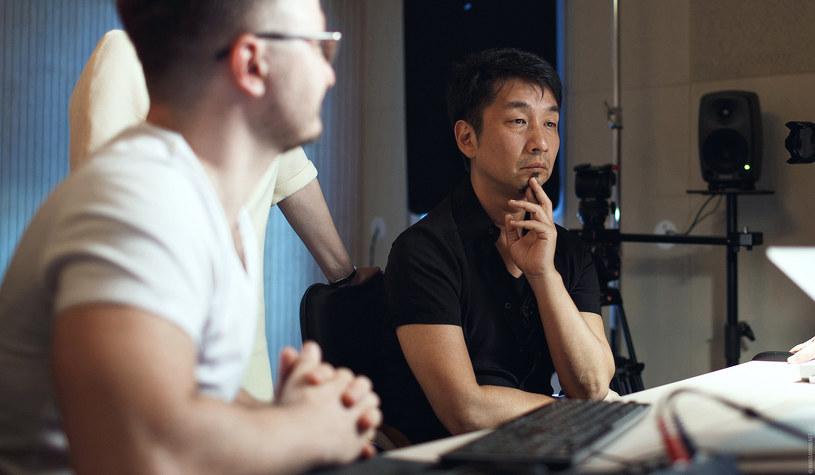 Akira Yamaoka w studio nagraniowym /materiały prasowe