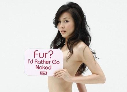 Aktorka promowała już kolekcję sztucznych futer. Stała się twarzą kampanii w obronie praw zwierząt /AFP