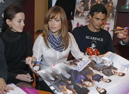 Aktorzy spotkali się ze swoimi fanami przy okazji premiery DVD z pierwszym sezonem serialu /AKPA