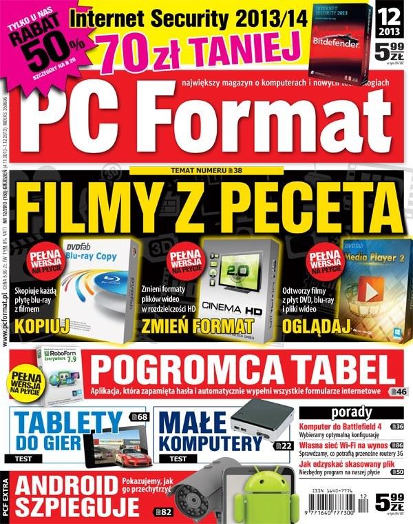 Aktualny numer - PC Format 12/2013. W kioskach od 4 listopada /materiały prasowe